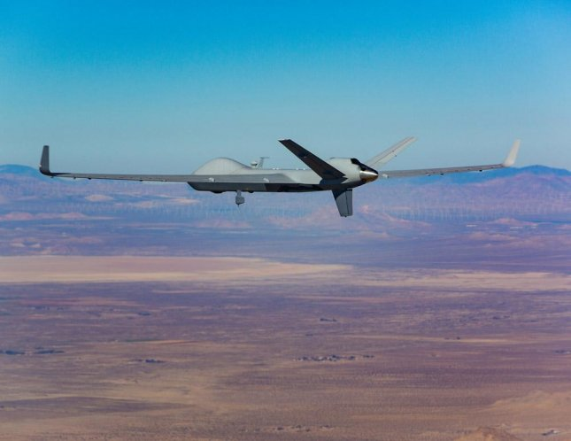 GA-SI's MQ-9B SkyGuardian aircraft, which the company recently flew on an FAA-approved flight through unrestricted U.S. airspace for about two hours last week. Photo courtesy of GA-ASI