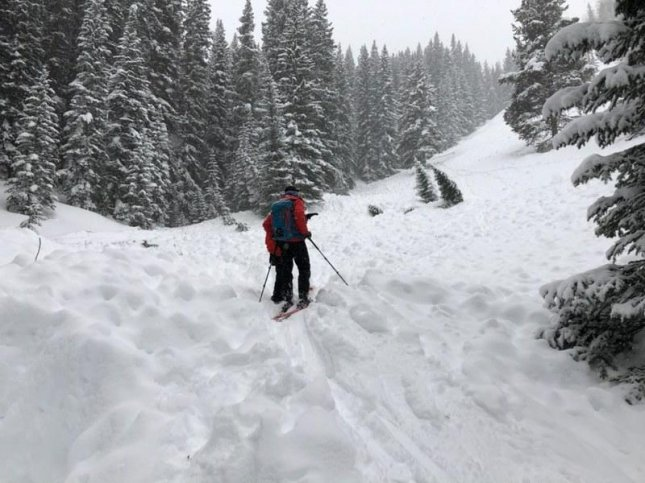 Rescuers search for two snowmobilers who were buried Saturday in a Colorado avalanche. Photo courtesy of the Eagle County Sheriff's Office/Website