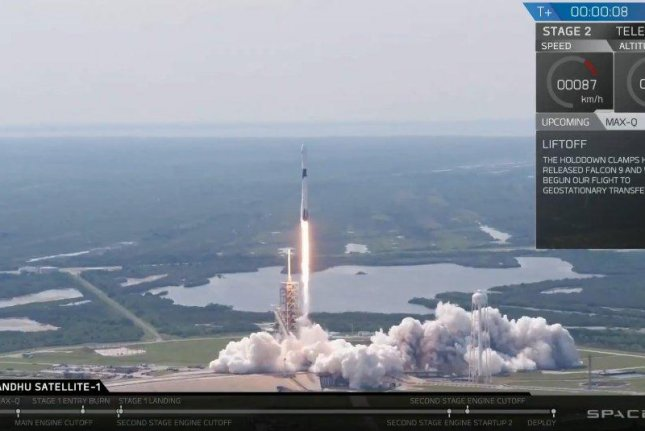 SpaceX's Block 5 rocket successful blasted-off on Friday afternoon. The rocket's first stage land safely back on Earth a few minutes later. Photo by SpaceX