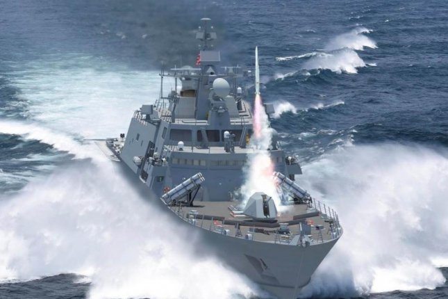 The Navy will begin soliciting bids this year for the detail design and construction of the next generation of guided missile frigates. Pictured is a rendering of the Lockheed Martin offering. Photo courtesy of Lockheed Martin