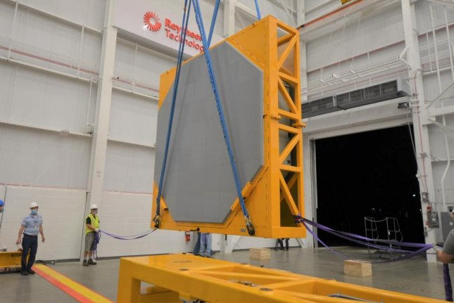 Raytheon has deliveredthe first AN/SPY-6(V)1 radar array for installation on the Navy's future USS Jack H. Lucas guided-missile destroyer. Photo courtesy of Raytheon