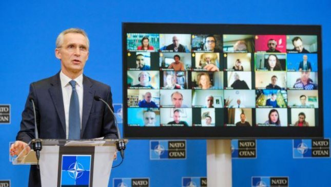 NATO Secretary-General Jens Stoltenberg, in preparation for a conference later this week of defense ministers, said on Monday that NATO troops will not leave Afghanistan until the proper time. Photo courtesy of NATO