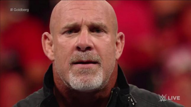 Professional wrestling icon Goldberg made his returned to WWE Monday where he accepted Brock Lesnar's challenge. Photo courtesy of WWE/Twitter