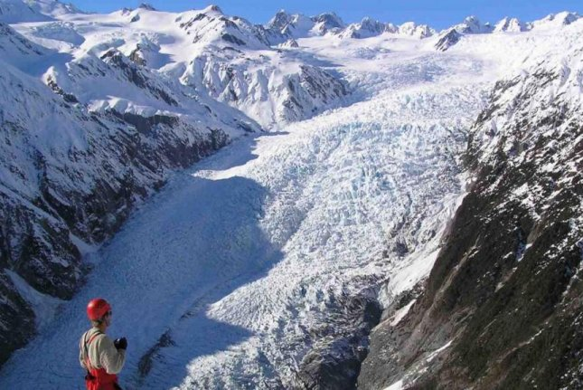 Franz Josef Glacier, New Zealand's largest glacier, grew in size between 1998 and 2008. Photo by Victoria University