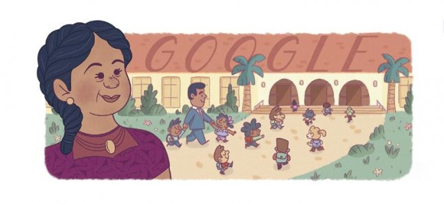 Google is paying homage to civil rights pioneer Felicitas Mendez with a new Doodle. Image courtesy of Google