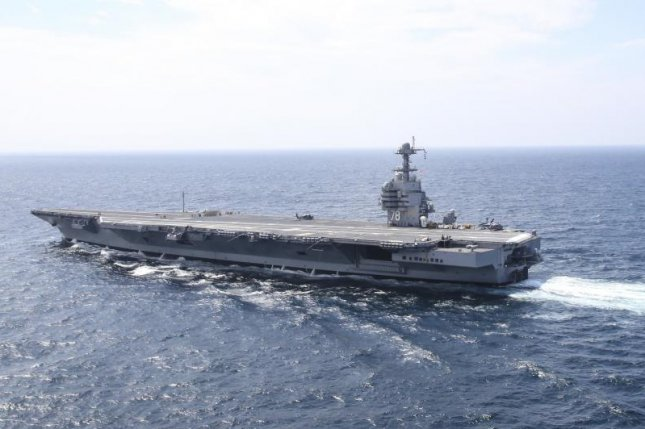 The Department of Defense awarded General Atomics a $19.7 million contract to supply spare parts for the troubled Electromagnetic Aircraft Launch System aboard the USS Gerald R. Ford. Photo by Mass Communication Specialist 2nd Class Ryan Litzenberger/U.S. Navy