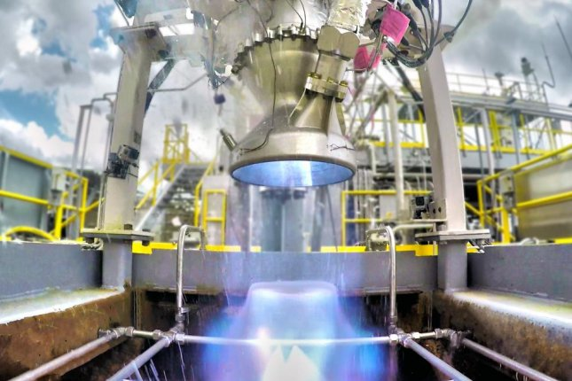 Relativity Space tests its 3-D printed Aeon engine. Photo courtesy of Relativity Space