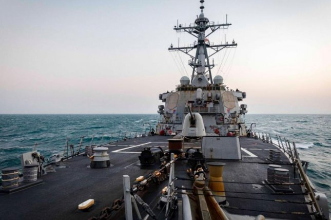 The destroyer USS John S. McCain traveled to the South China Sea, the first visit to the contested area of a U.S. warship of the Biden administration. Photo courtesy of U.S. Navy 7th Fleet