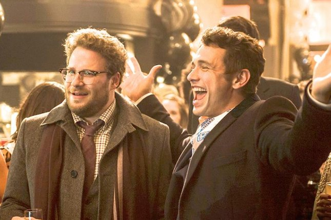 Seth Rogen and James Franco are teaming up in a Sony Pictures comedy, The Interview, about a plot to assassinate Kim Jong Un. Sony officials fear retribution by a North Korean crew could be behind massive hack attack. (Sony Pictures/Facebook)