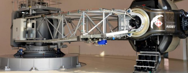 A human centrifuge to expose pilots to high G-force conditions. Photo courtesy AMST