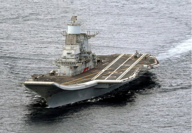 India's navy announced Friday it successfully fired its first surface-to-air missile from its aircraft carrier INS Vikramaditya. Photo courtesy Indian navy.