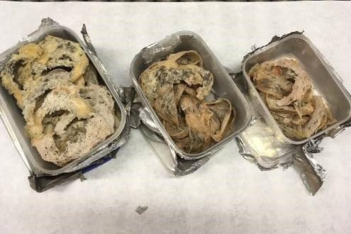 Customs agents in Dallas said they seized 54 bird nests smuggled in the luggage of a traveler arriving from Vietnam. Photo courtesy of U.S. Customs and Border Protection