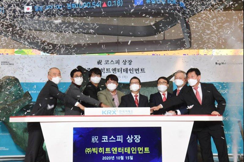 BTS management label listed on S.Korean market