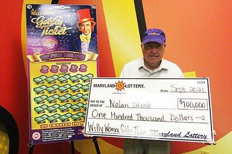 Nolan Steele of Sykesville, Md., said listening to a voice inside his head led to his winning a $100,000 jackpot from a scratch-off lottery ticket. Photo courtesy of the Maryland Lottery