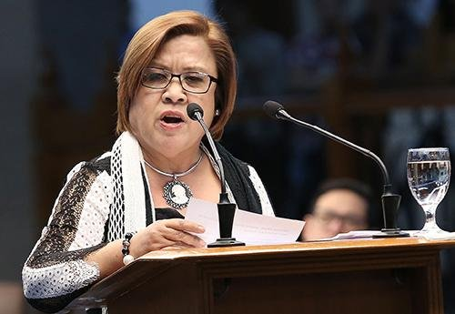 Philippines Sen. Leila De Lima was indicted on an obstruction of justice charge on Wednesday, for allegedly advising a former member of her staff not to testify before a House investigation on the country's illegal drug trade. Photo by Alex Nuevaespana/Philippine Senate Public Relations and Information bureau/Wikimedia