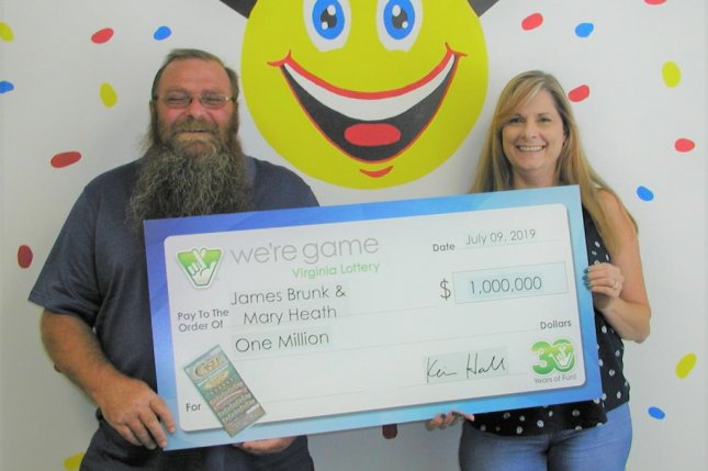 A Virginia couple said a long wait for pizza led them to purchase the lottery ticket that earned them $1 million. Photo courtesy of the Virginia Lottery
