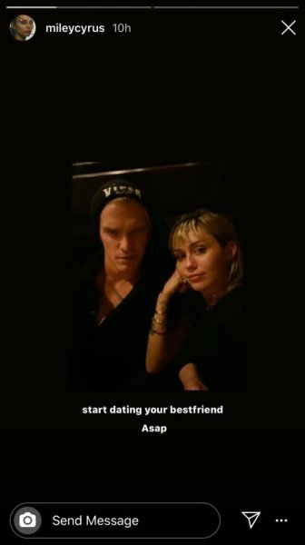 Miley Cyrus shared new photos with her boyfriend, Cody Simpson, following reports the couple had broken up. Photo by mileycyrus/Instagram Stories