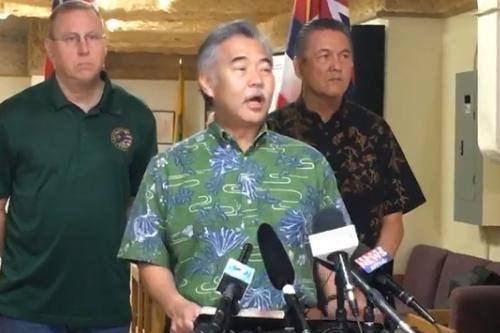Hawaii Gov. David Ige speaks during a news conference on Saturday concerning a ballistic missile threat mistakenly sent out statewide earlier in the day. On Monday, officials announced the employee who made the mistake would be reassigned. Photo courtesy Gov. David Ige/Facebook