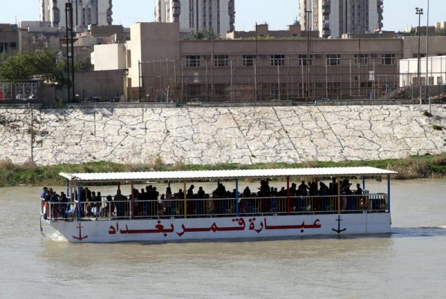 A ferry similar to this one capsized on the Tigris River on Thursday, killing nearly 100 people. File Photo by Ali Abbas/EPA-EFE