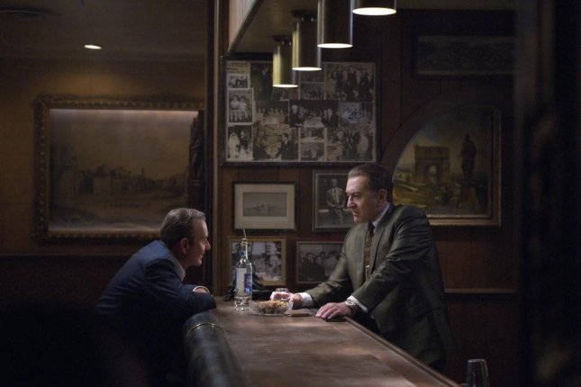 The Irishman, a new film starring Robert De Niro (R), is coming to Netflix in November. Photo courtesy of Netflix
