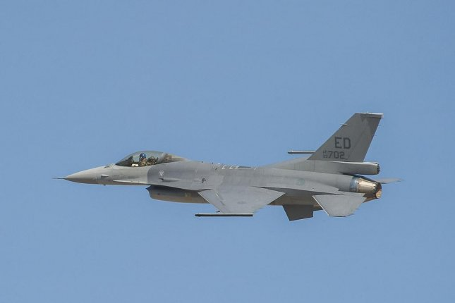 The F-16V, the latest and most advanced variant of the F-16, flies near Lockheed Martin's plant in Fort Worth, Texas, in 2015. Photo courtesy Lockheed Martin/Flickr