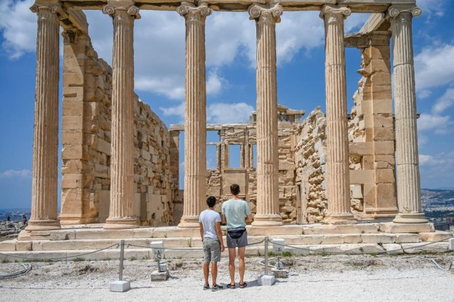 Tourism has been slow to return to Greece since it reopened to international travelers in July. Photo by Thomas Maresca/UPI