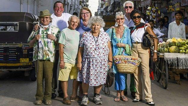 Photo of the cast of The Real Marigold Hotel, courtesy of the BBC