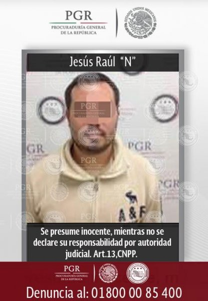 Jesús El Chuy Raúl Beltrán León, seen here on a wanted poster, is now in U.S. custody to face charges related to drug trafficking. He is accused of being the former body guard of Joaquin El Chapo Guzmán's son and an active member of the Sinaloa Cartel. Photo courtesy Mexico Attorney General