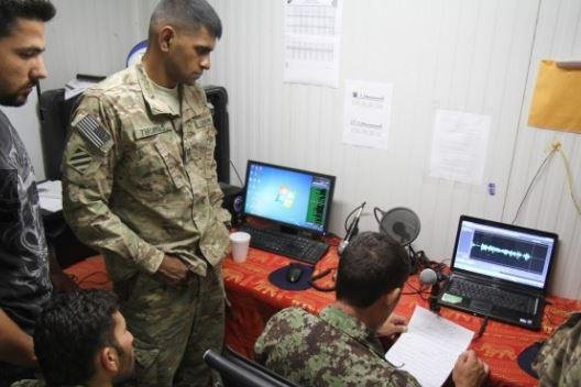 U.S. Army personnel at Camp Maiwand, Afghanistan, complete radio training. The Army announced a September meeting, Capability Set '23, do discuss plans for future networking tools. Photo courtesy of U.S. Army