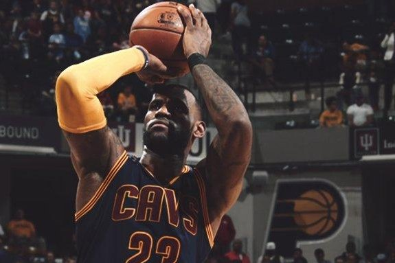 LeBron James scored 33 as the Cavaliers swept the Indiana Pacers in the first-round of the Eastern Conference playoffs. Photo courtesy Cleveland Cavaliers via Twitter