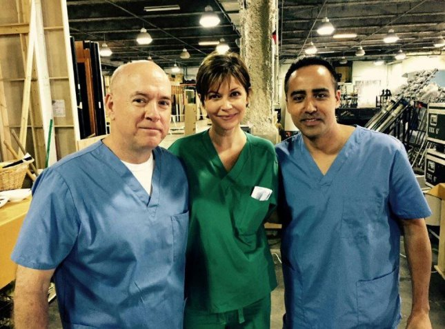 Lisa Lynn Masters, center, on the set of the final episode of Nashville on May 13, 2015. Masters reportedly committed suicide earlier this week while in a hotel room in Lima, Peru. Photo courtesy Lisa Lynn Masters/Facebook