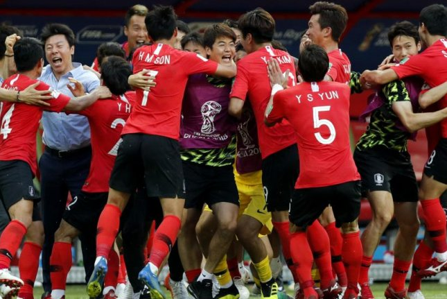 South Korea defeated Germany 2-0 on Wednesday at the World Cup in Russia. File Photo by Robert Ghement/EPA-EFE