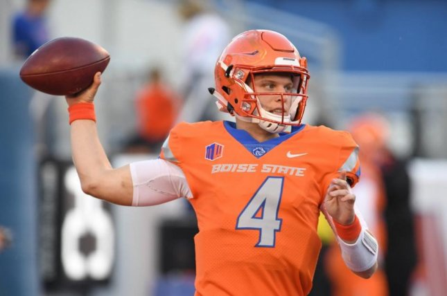 Quarterback Brett Rypien, the 2018 Mountain West Offensive Player of the Year, leads Boise State into a bowl game against Boston College on Wednesday. Photo courtesy of Boise State Football/Twitter