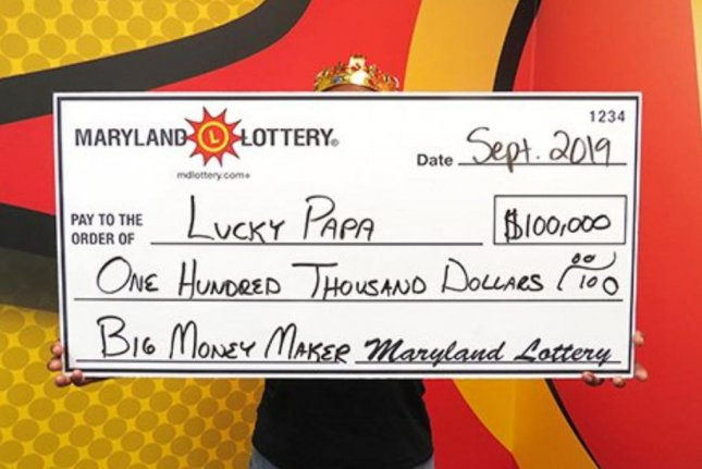 A Maryland man said a trip to the store for corn slaw led to his winning a $100,000 lottery jackpot. Photo courtesy of the Maryland Lottery
