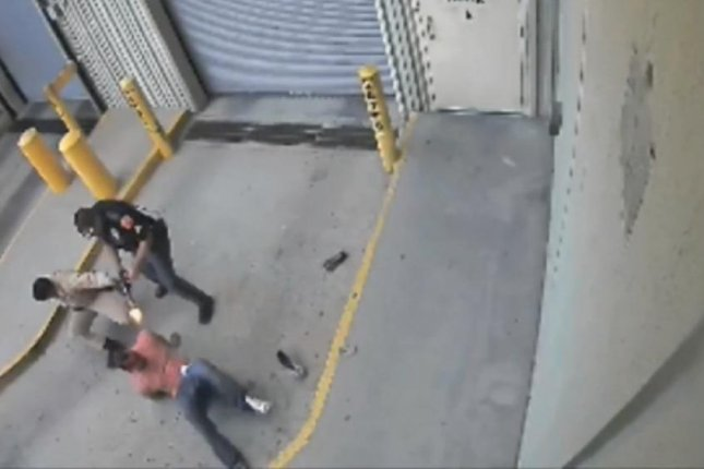 An El Paso police officer shoots a handcuffed man. (Photo: El Paso Police Department)