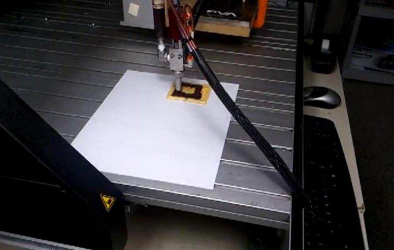 3D food printer. (YouTube screenshot via Anjan Contractor)