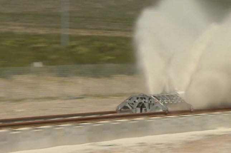 Hyperloop One Tests Its Propulsion Mechanism Upi Com