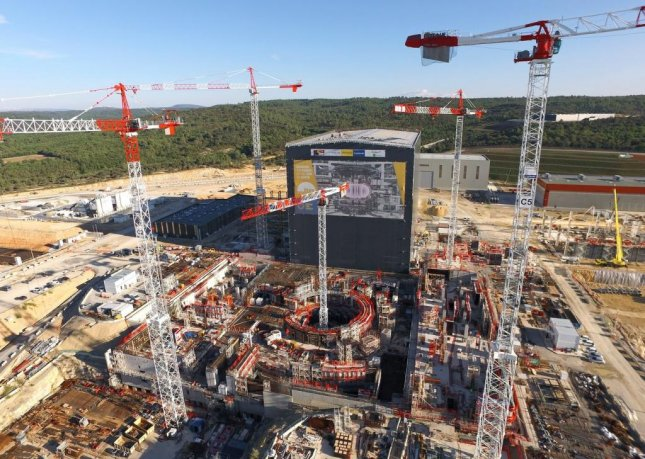 Under construction: the ITER research tokamak in France. Photo courtesy of ITER