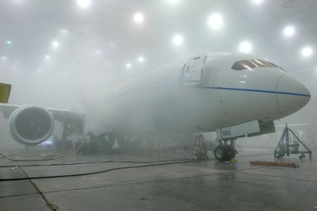 Boeing puts its latest 787 through sub-zero testing at a U.S. Air Force Base in Florida. (Photo: Boeing)
