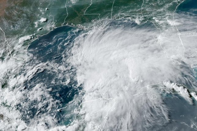 The system could strengthen to become Tropical Storm Claudette. Image courtesy of NOAA