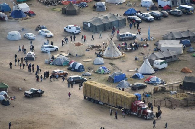 Rights group Amnesty International says efforts to quiet protests over the Dakota Access oil pipeline may have been excessive. Photo courtesy of the Sheriff's Department in Morton County, N.D.