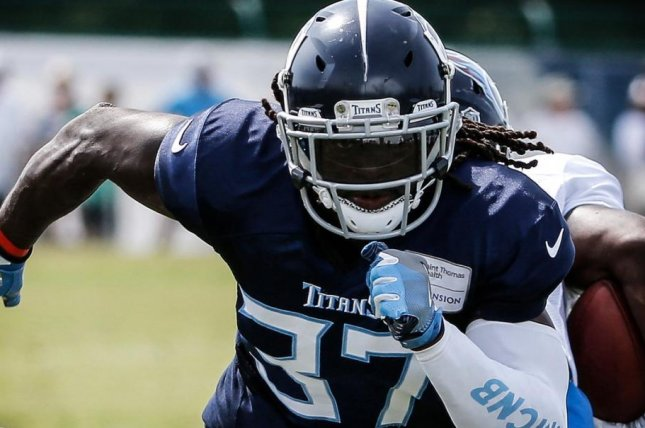 Tennessee Titans starting safety Johnathan Cyprien (37) sustained a torn ACL and will miss the upcoming season, head coach Mike Vrabel announced Thursday. Photo courtesy of Tennessee Titans/Twitter