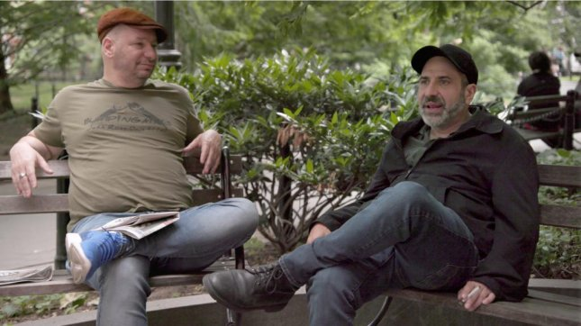 Comedians Jeff Ross (R) and Dave Attell (L) told UPI in a recent interview that their Netflix series, Bumping Mics, has its origins in their real-life friendship. Photo courtesy of Netflix