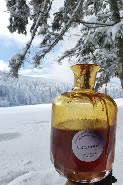 Centauri Honey, which is harvested from a Turkish cave 8,000 feet above sea level, was declared the world's most expensive honey by Guinness World Records. Photo courtesy of Guinness World Records