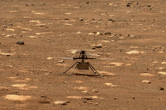 The first flight of NASA's Mars Ingenuity helicopter has been delayed due to a failure of its rotor blades. Photo courtesy of NASA