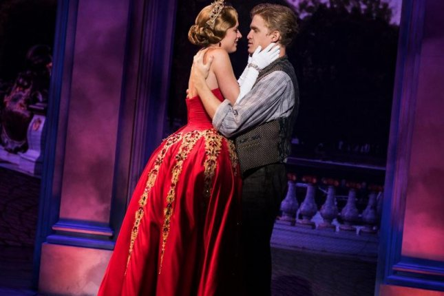 Left to right, Christy Altomare and Cody Simpson appear in the Broadway musical Anastasia. The show is scheduled to close next month after two years. Photo by Evan Zimmerman/MurphyMade, courtesy of Polk & Co.