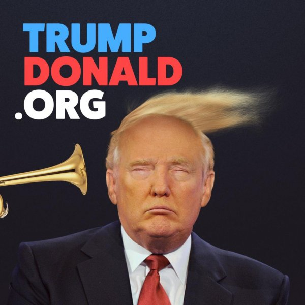 A website developed by Swedish advertising agency Animal allows users to blast Republican presidential candidate Donald Trump with a trumpet. Photo by Animal/trumpdonald.org