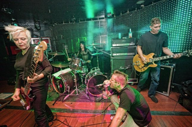 The Germs perform at Sala Boite in Madrid on December 18, 2009. Band members pictured, from left to right, are Lorna Doom, Don Bolles, Shane West and Pat Smear. Doom has died, Bolles announced on social media. Photo by mirwav - Flickr: THE GERMS/Wikipedia