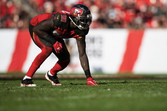 Jason Pierre-Paul's 2019 season is in doubt after the veteran defensive end was involved in a car accident last week in South Florida. Photo courtesy of the Tampa Bay Buccaneers