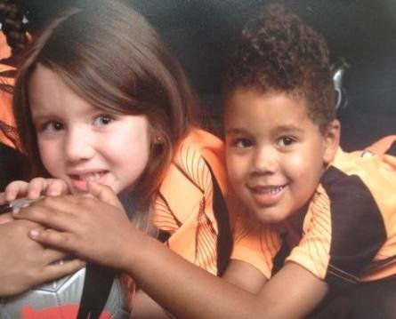 Chloe Arwood and James Caldwell. (Family photo)